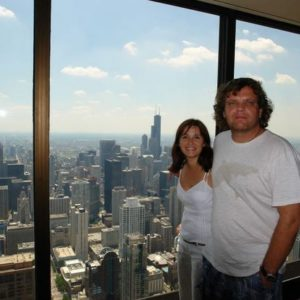 W oddali Sears Tower,