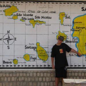 To jest mapa Cabo Verde i wyspy Sal.