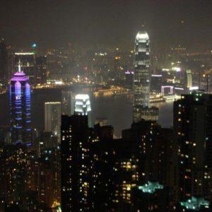 A teraz Hong Kong z góry