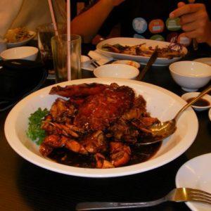 No i już ostatni posiłek - krab po .... (Krzysiek nie pamięta nazwy, chociaż go jadł),