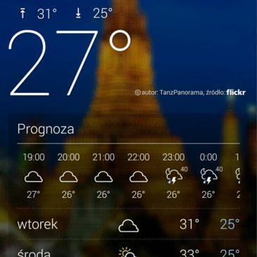 Niestety takie temperatury czekają na Nas ;-)
